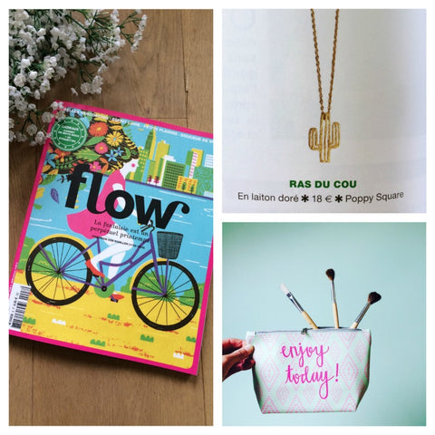 Parution presse Poppy Square dans Flow Magazine n°8 page 92 Collier Cactus