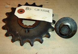 1980 Honda CB750K FRONT COUNTERSHAFT SPROCKET W BOLT 18 TOOTH