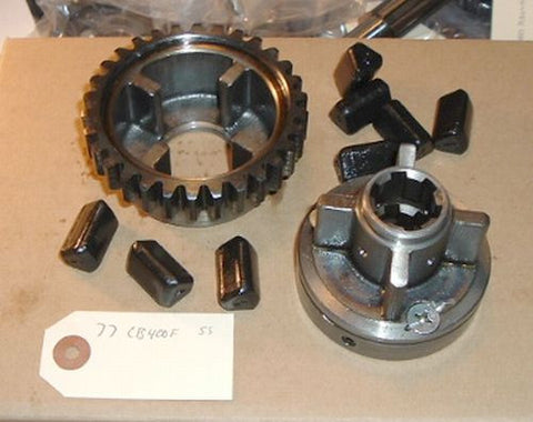 1977 Honda CB400 Super Sport TRANSMISSION DRIVE HUB W DAMPERS SPROCKET, PRIMARY DRIVEN