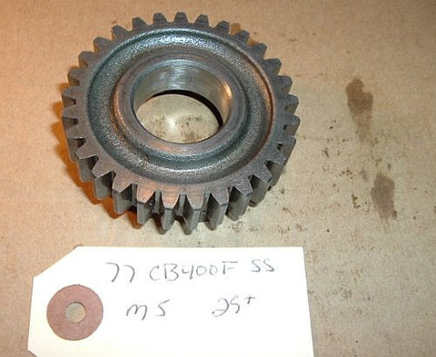 1977 Honda CB400 Super Sport TRANSMISSION 5th MAINSHAFT GEAR M5 5TH GEAR 29 TOOTH