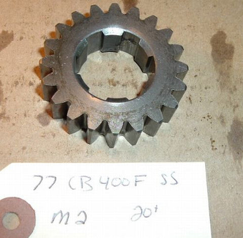 1977 Honda CB400 Super Sport TRANSMISSION SECOND MAINSHAFT GEAR M2 2ND GEAR 20 TOOTH