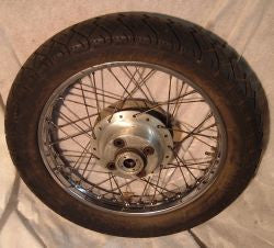 "1977 Honda CB400 Super Sport  18"" REAR WHEEL"
