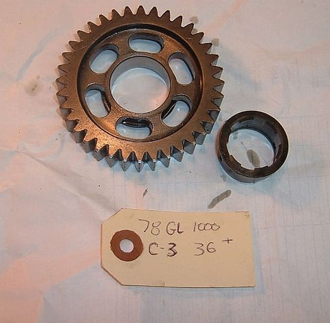 1978 Honda GL1000 Goldwing TRANSMISSION 3rd COUNTERSHAFT GEAR 36 tooth