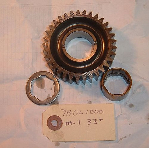 1978 Honda GL1000 Goldwing  TRANSMISSION 1st MAIN SHAFT GEAR 33 TOOTH M1
