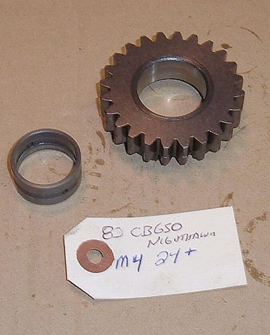 1982 Honda CB650 Nighthawk TRANSMISSION MAIN SHAFT GEAR - M-4 24 TOOTH