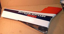 1986 Honda VF500 Interceptor RIGHT SIDE PLATE SIDE COVER
