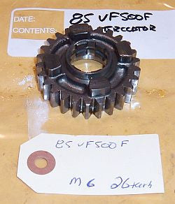 1986 Honda VF500 Interceptor Mainshaft Gear M-6 26 tooth