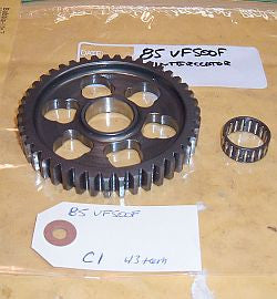 1986 Honda VF500 Interceptor TRANSMISSION COUNTER SHAFT GEAR C-1 43 tooth
