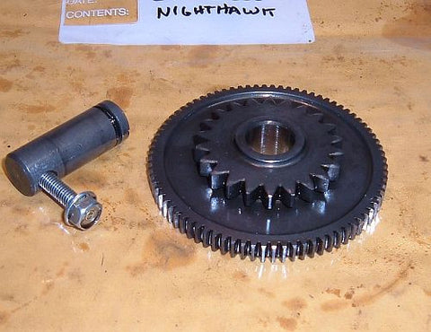1985 Honda CB450 Nighthawk GEAR, STARTING IDLE (80T 22T)