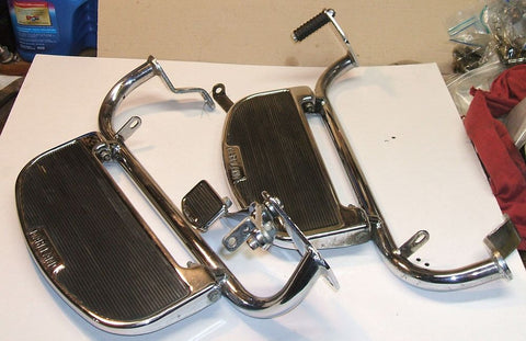 1976 Honda GL1000 Goldwing CHROME FOOTBOARDS FOOT BOARD R L HEEL TOE SHIFTER