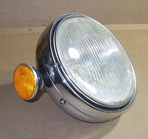1976 Honda GL1000 Goldwing CHROME HEADLIGHT BUCKET W RING BULB
