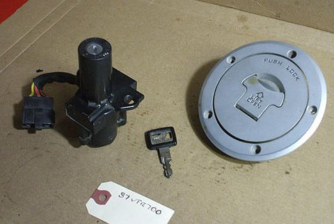 1986 Honda VFR700 Interceptor Ignition W Key Lock Set Gas Cap Fuel Filler Cap W Key
