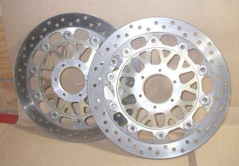 1995 Honda VFR750 Interceptor Front Brake Rotor Disc R L Right Left VFR 750