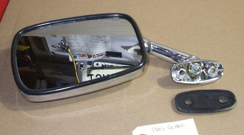 1981 Honda GL1100  MIRROR LEFT SIDE L CHROME