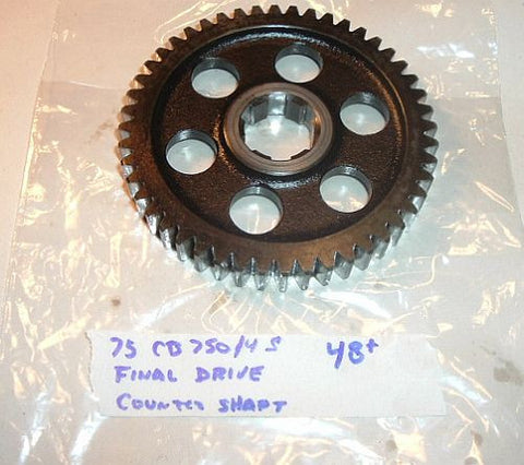 1975 Honda CB750 Super Sport FINAL DRIVE GEAR COUNTER SHAFT countershaft 48 TOOTH