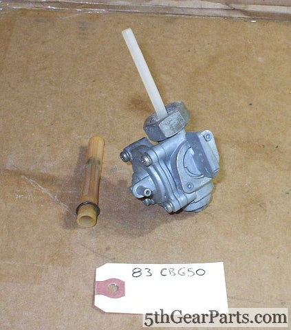 1983 Honda CB650 Nighthawk FUEL VALVE PETCOCK 83 cb650sc Fuel Shut Off Valve