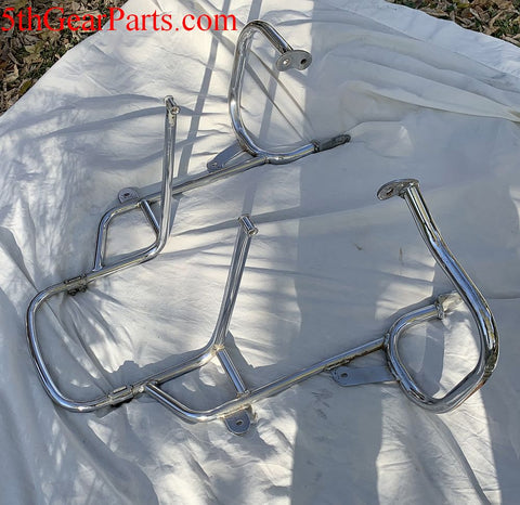 1980 Honda GL1100 GOLDWING CHROME LUGGAGE MOUNT BUMPER GUARD CRASH BARS