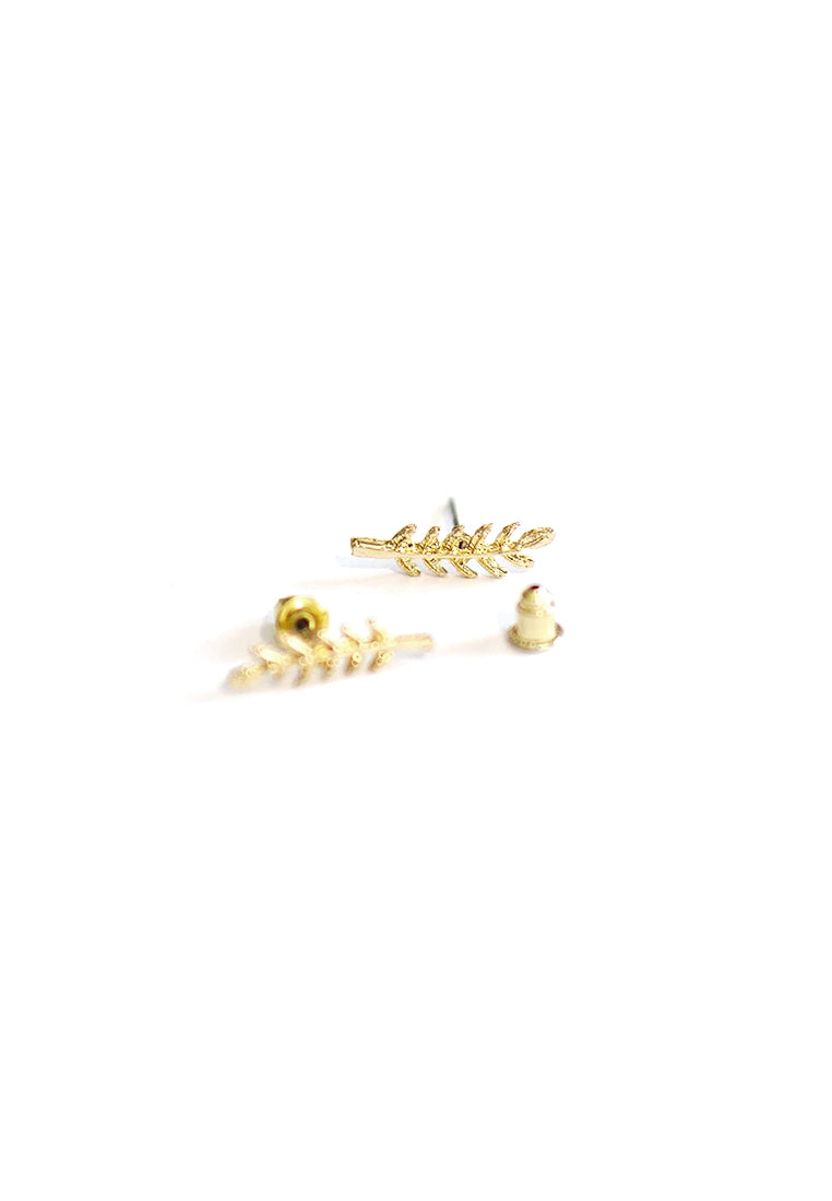 Acacia Leaf Earrings (Gold)