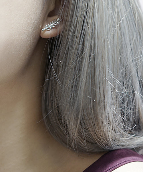 Acacia Leaf Earrings (Silver)