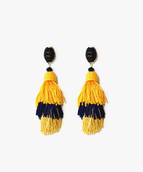 Ame Layered Tassels Earrings (Yellow)