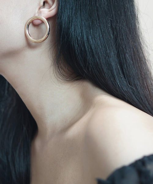 Anes Circle Earrings (Gold)