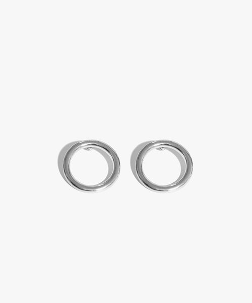Anes Circle Earrings (Silver)