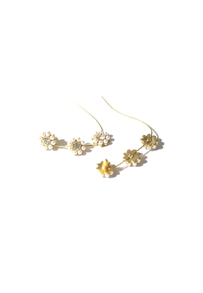 Aurel Flower Longline Earrings