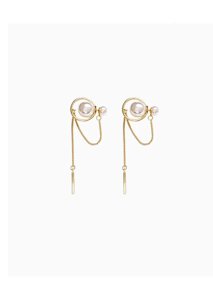 Baleigh Faux Pearl Statement Earrings