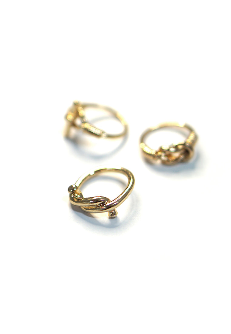 Ethel Knotted Ring Set