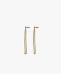 Calla Long Chain Drop Earrings (Gold)
