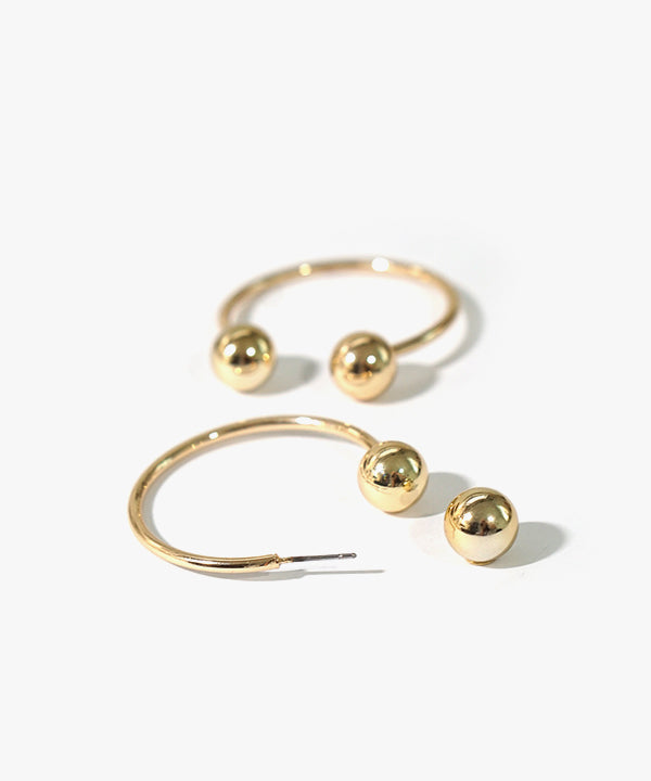Cassidy Ball-back Closure Earrings (Gold)