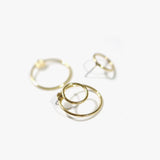 Chevron Double Loop Earrings (Gold)