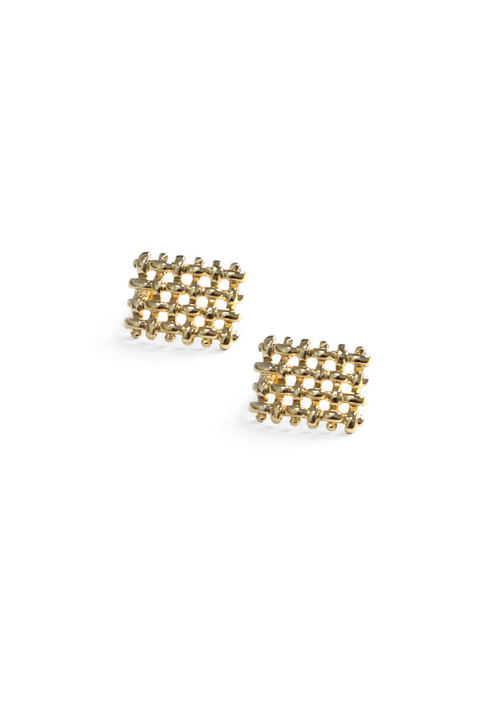 Martje Criss Cross Earrings (Gold)