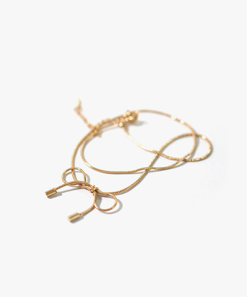 Delicate Ribbon Choker (Gold)