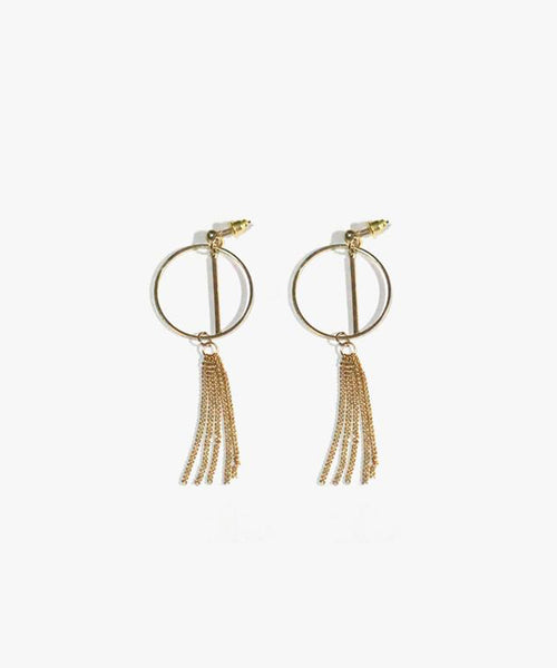 Elanor Chain Tassels Earrings (Gold)