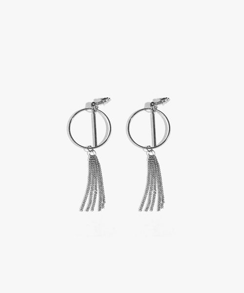Elanor Chain Tassels Earrings (Silver)