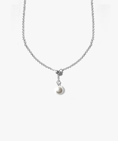 Elia Pearldrop Necklace (Silver)