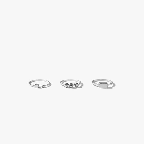 Mauee Ring Set (Silver)
