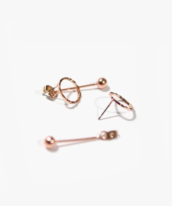 Polly Loop Drop Earrings (Rosegold)
