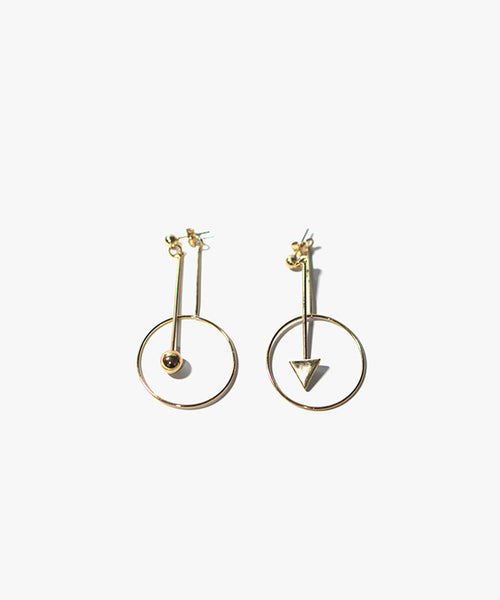 Riley Ball and Triangle Earring (Gold)