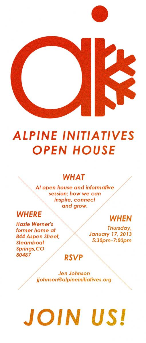 Alpine Initiatives Open House in Steamboat Colorado