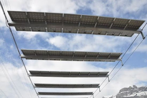 Ski lift powered entirely by solar panels