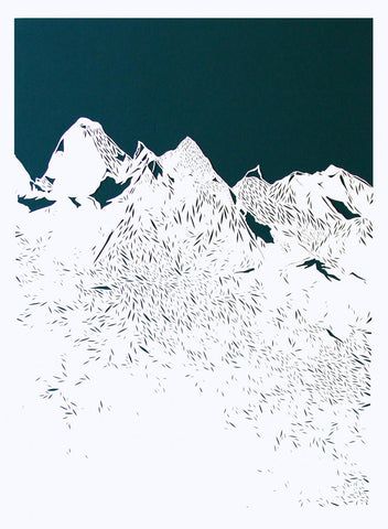 'Mountains Are Awesome' Custom Art Work