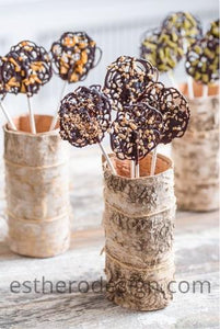 Lace Chocolate Lollipops
