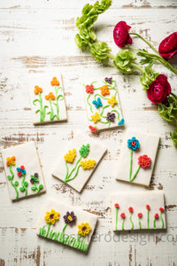 Flower Postcard Cookies
