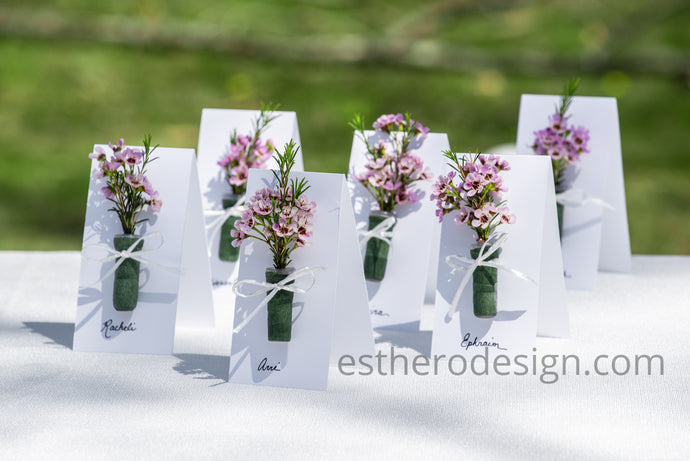 Flower Seating Cards