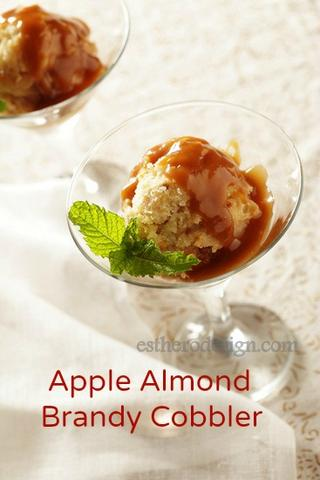 Apple-Almond-Brandy Cobbler