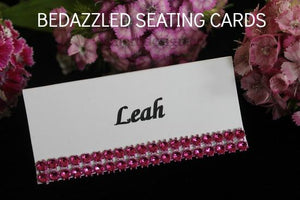 Bedazzled Seating Cards