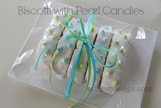 Biscotti with Candy Pearls