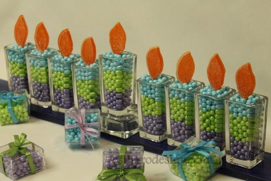 Hanukkah Candy Menorah